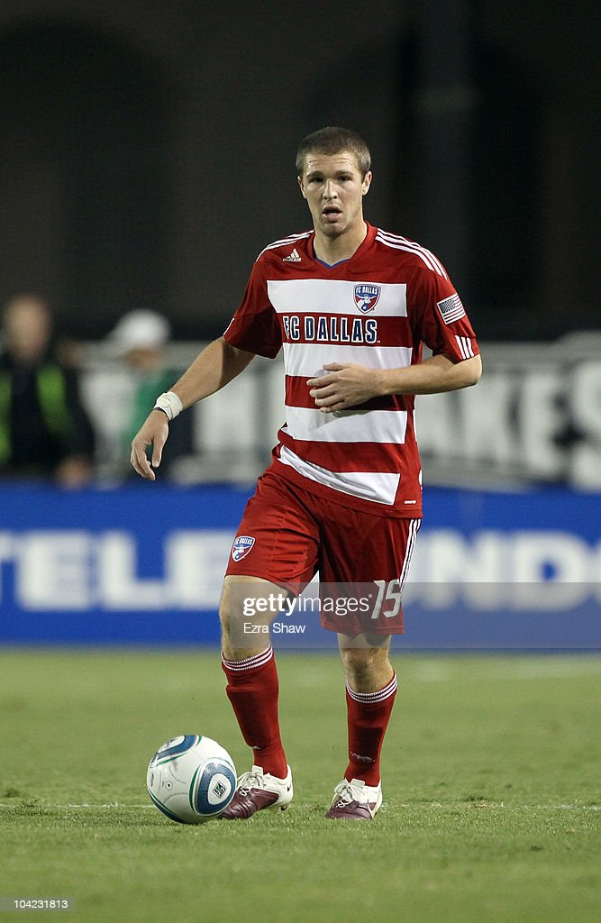 Kyle Davies #15 of FC Dallas in action against the San Jose Earthquakes at Buck Shaw Stadium on September 11, 2010 in Santa Clara, California.