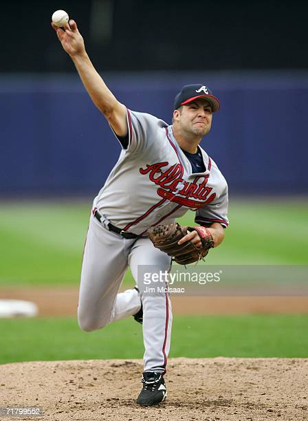 Kyle Davies of the Atlanta Braves delivers a pitch against the New York Mets on September 6, 2006 during the second game of their doubleheader at...