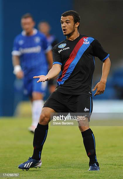Kyle De Silva of Crystal Palace during the pre season friendly match between Gillingham and Crystal Palace at Priestfield Stadium on July 23 2013 in...