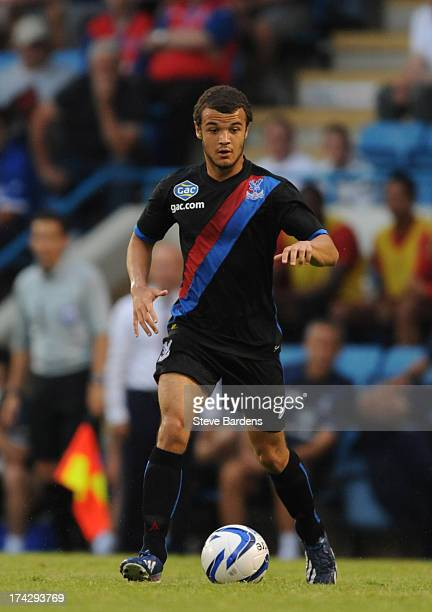Kyle De Silva of Crystal Palace in action during the pre season friendly match between Gillingham and Crystal Palace at Priestfield Stadium on July...