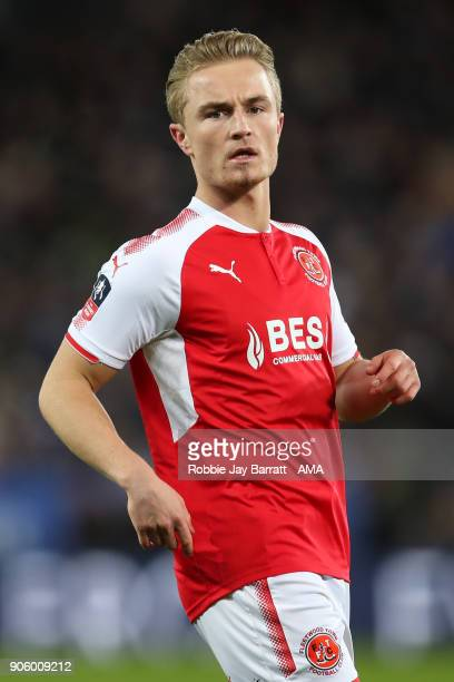 Kyle Dempsey of Fleetwood Town during The Emirates FA Cup Third Round Replay match between Leicester City and Fleetwood Town at The King Power...