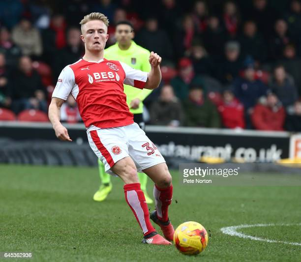 Kyle Dempsey of Fleetwood Town in action during the Sky Bet League One match between Fleetwood Town and Northampton Town at Highbury Stadium on...