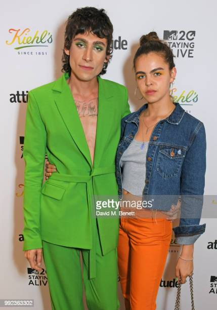 Kyle De'Volle and Bee Beardsworth attend Kiehl's 'We Are Proud' party to celebrate Pride on July 5 2018 in London England