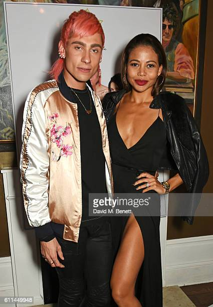 Kyle De'Volle and Emma McQuiston Viscountess Weymouth attend the JF London x Kyle De'Volle VIP dinner at Beach Blanket Babylon on September 29 2016...