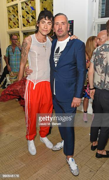 Kyle De'Volle and Fat Tony attend adidas 'Prouder' A Fat Tony Project in aid of the Albert Kennedy Trust supporting LGBT youth at Heni Gallery Soho...