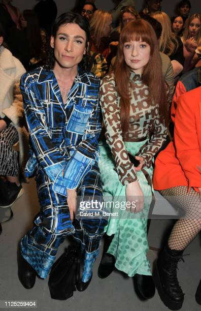 Kyle De'Volle and Nicola Roberts attend the House of Holland AW19 London Fashion Week catwalk show showcasing the limitededition Vype ePen 3 / vaping...