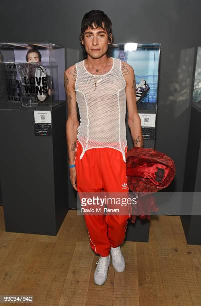 Kyle De'Volle attends adidas 'Prouder' A Fat Tony Project in aid of the Albert Kennedy Trust supporting LGBT youth at Heni Gallery Soho on July 3...
