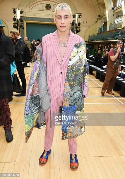 Kyle De'Volle attends the Vivienne Westwood show during London Fashion Week Men's January 2017 collections at Seymour Leisure Centre on January 9...