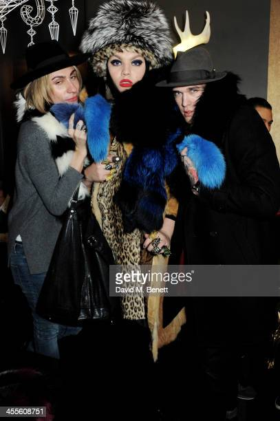 Kyle De'Volle Daniel Lismore and Jimmy Q attend as Kyle De'Volle and Charlotte Simone launch their fur collection at The Box Boutique on December 12...