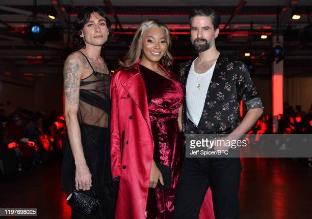 Kyle De'Volle Munroe Bergdorf and Jack Guinness attend the Art School show during London Fashion Week Men's January 2020 at the BFC Show Space on...