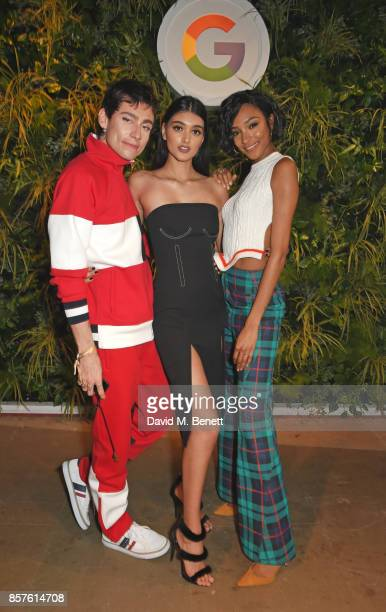 Kyle De'Volle Neelam Gill and Jourdan Dunn attend Google's Pixel 2 phone launch at The Old Selfridges Hotel on October 4 2017 in London England