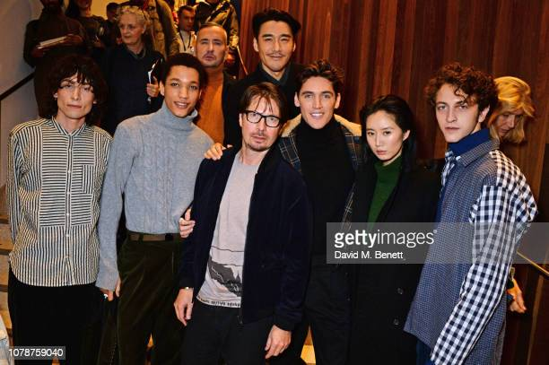 Kyle De'Volle Peter Finn Fat Tony Oliver Spencer Hu Bing Isaac Carew Betty Bachz and Niels Trispel attend the Oliver Spencer Autumn/Winter 2019...