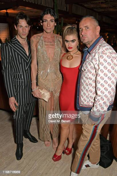 Kyle De'Volle Sophia Hadjipanteli and DJ Fat Tony attend the LOVE YouTube LFW party supported by PerrietJouet and hosted by Katie Grand Derek...