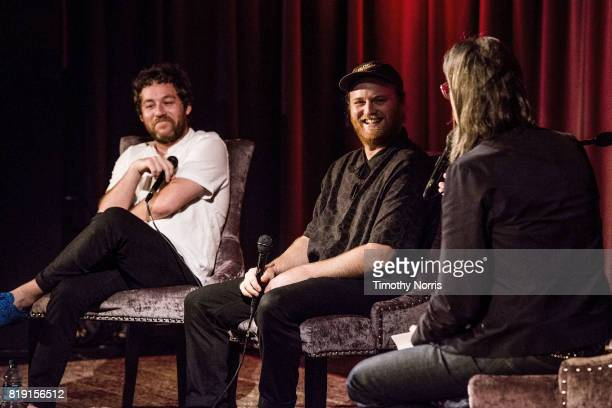 Kyle Dixon Michael Stein and Scott Goldman speak during The Music Behind 'Stranger Things' A Conversation with Kyle Dixon and Michael Stein of S U R...