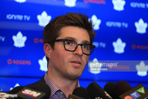 Kyle Dubas file photos from the Nylander signing press meeting.