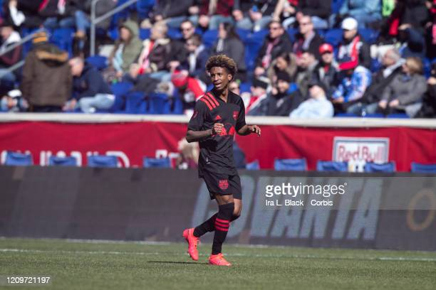 Kyle Duncan of New York Red Bulls after scoring a goal during 1st half of the Major League Soccer Match between New York Red Bulls and FC Cincinnati...