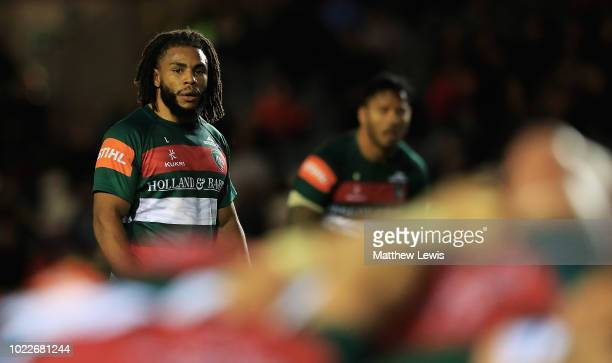 Kyle Eastmond of Leicester Tigers during a friendly match between Leicester Tigers and London Irish at Welford Road on August 24 2018 in Leicester...