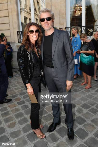 Kyle Eastwood and his wife Cynthia Eastwood attend the Giorgio Armani Prive Haute Couture Fall Winter 2018/2019 show as part of Paris Fashion Week on...