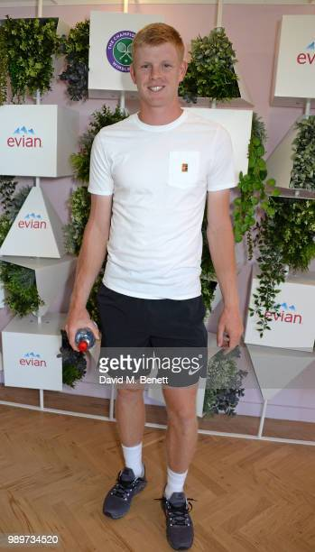 Kyle Edmund British number 1 attends the evian Live Young Suite at The Championship at Wimbledon on July 2 2018 in London England