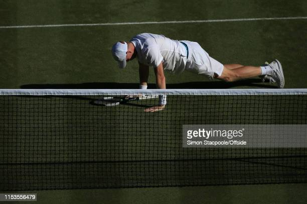Kyle Edmund looks dejected against Fernando Verdasco during their Gentlemen's Singles 2nd Round match on Day 3 of The Championships - Wimbledon 2019...