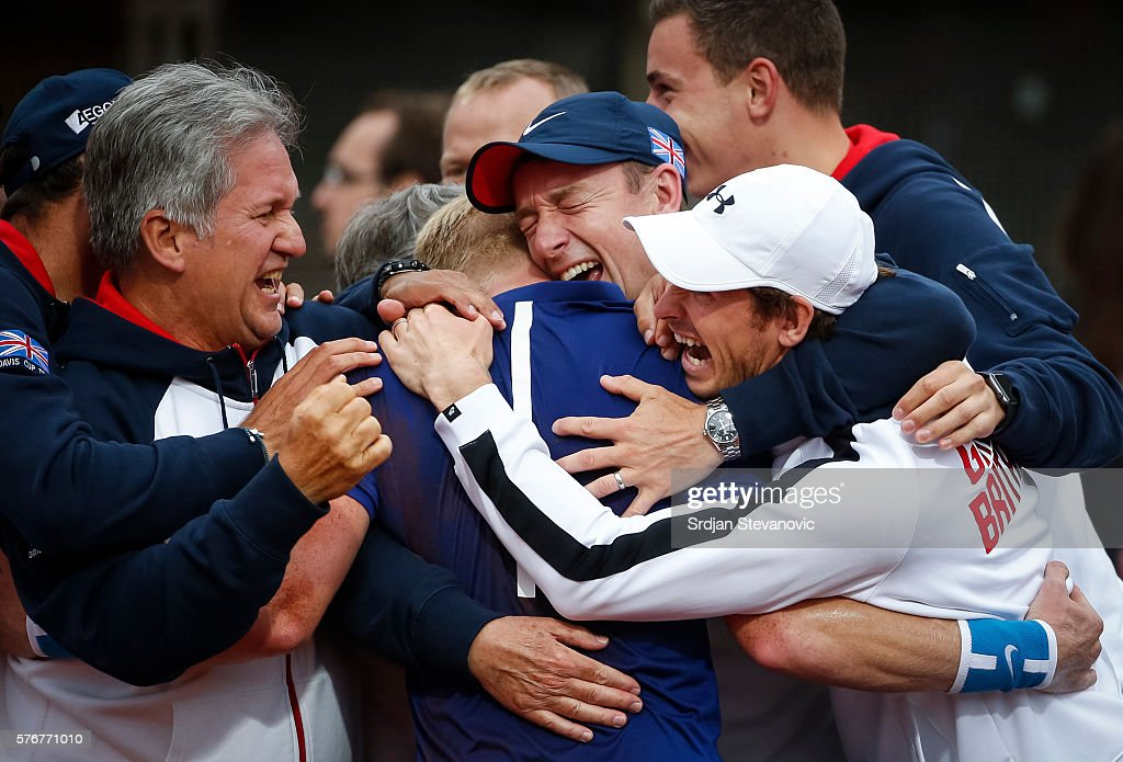 Serbia v Great Britain - Davis Cup World Group Quater-Final: Day Three : News Photo