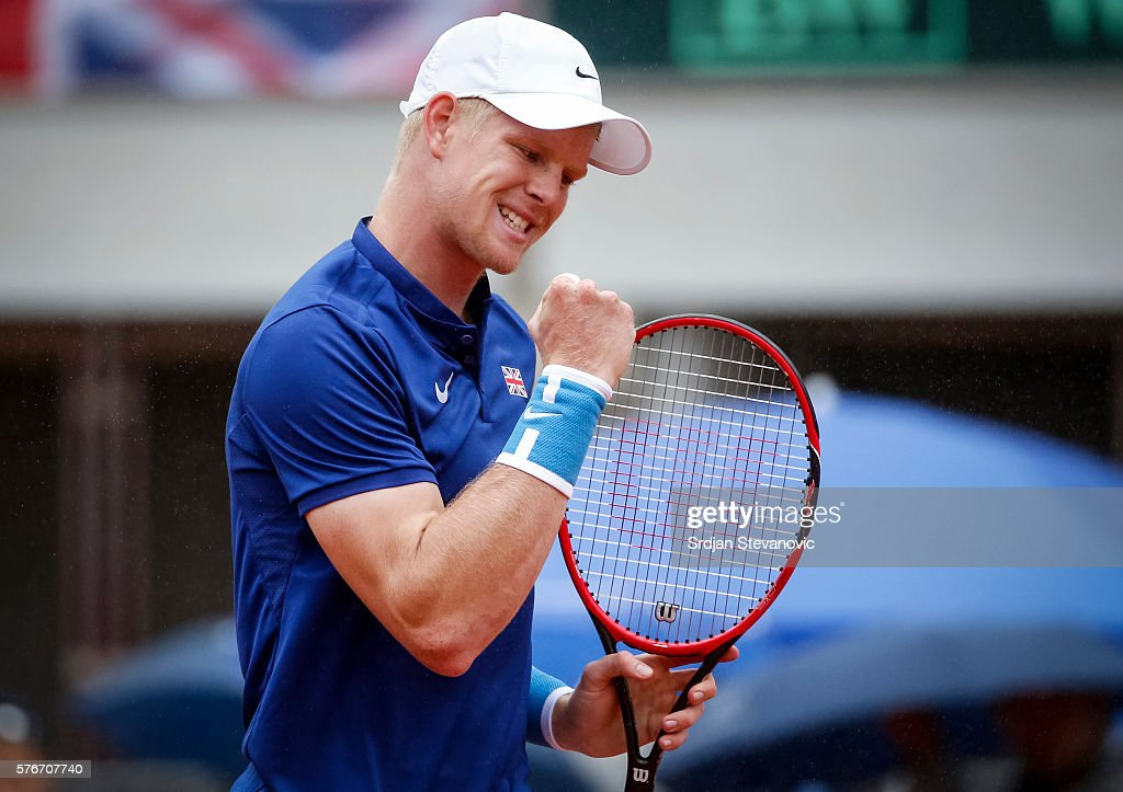 Serbia v Great Britain - Davis Cup World Group Quater-Final: Day Three : News Photo