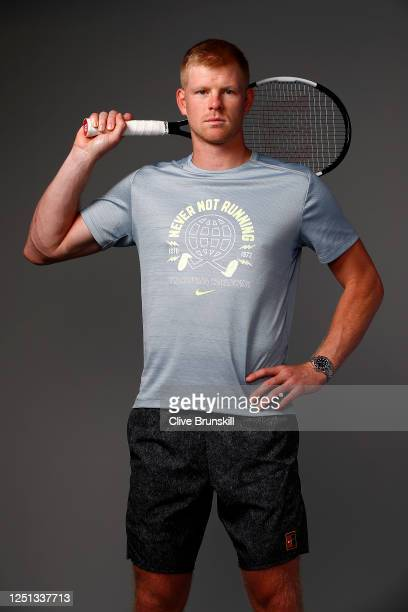 Kyle Edmund poses for a photo prior to Schroders Battle of the Brits at the National Tennis Centre on June 22, 2020 in London, England.
