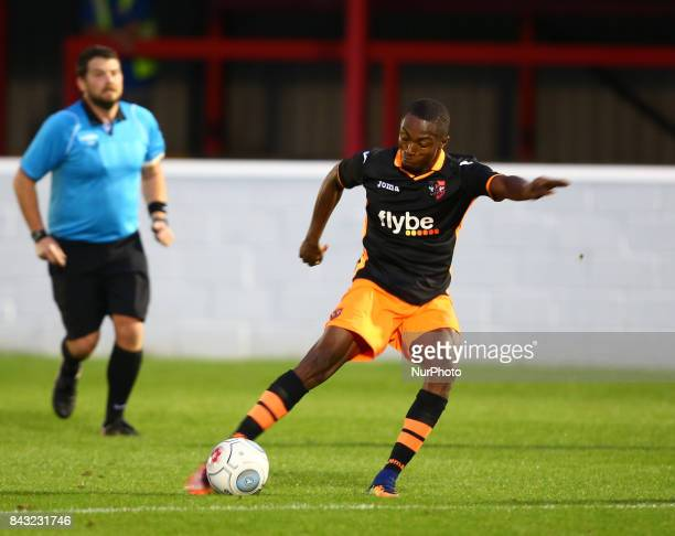 Kyle Edwards of Exeter City during Premier League Cup match between Dagenham and Redbridge Under 23s against Exeter City Under 23s at Chigwell...