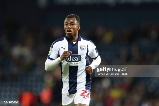 Kyle Edwards of West Bromwich Albion during the Carabao Cup Second Round match between West Bromwich Albion and Mansfield Town at The Hawthorns on...