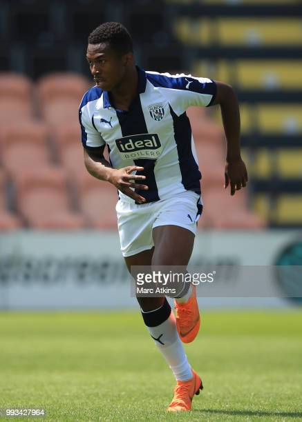 Kyle Edwards of West Bromwich Albion during the Preseason friendly between Barnet and West Bromwich Albion on July 7 2018 in Barnet United Kingdom