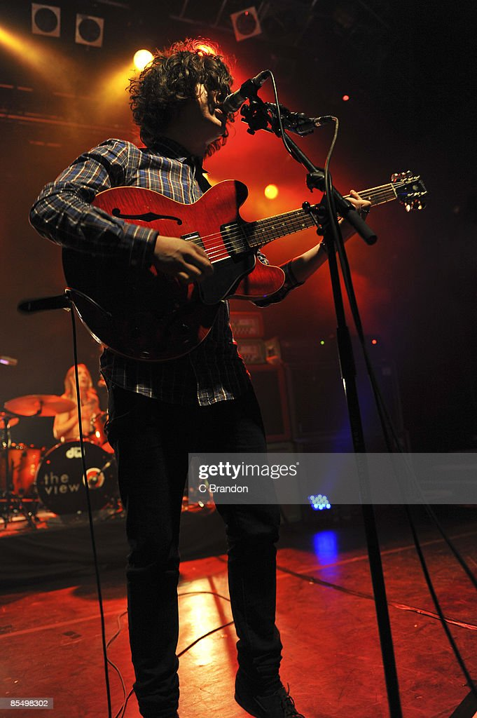 Kyle Falconer lead singer of The View performs on stage at Koko on