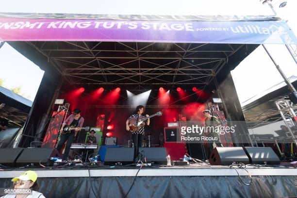 Kyle Falconer performs on stage during TRNSMT Festival Day 2 at Glasgow Green on June 30 2018 in Glasgow Scotland