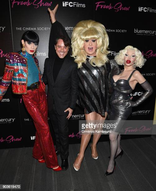 Kyle Farmery Bryan Rabin Lady Bunny and Amanda Lepore attend the premiere of IFC Films' Freak Show hosted by The Cinema Society at Landmark Sunshine...