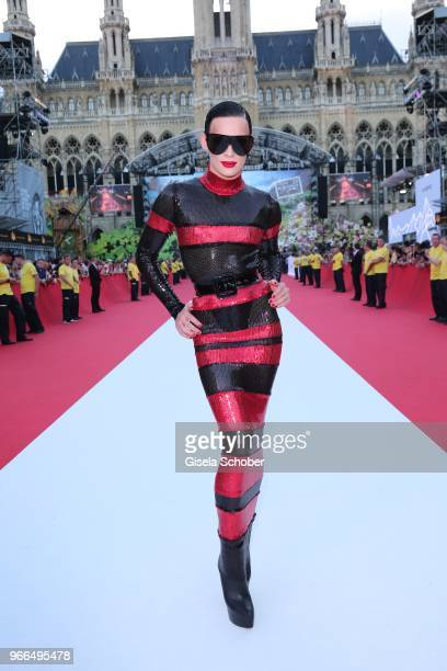 Kyle Farmery during the Life Ball 2018 at City Hall on June 2 2018 in Vienna Austria The Life Ball an annual charity event raising funds for HIV AIDS...
