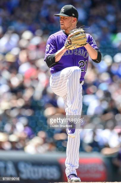 Kyle Freeland of the Colorado Rockies pitches against the Arizona Diamondbacks at Coors Field on June 10 2018 in Denver Colorado