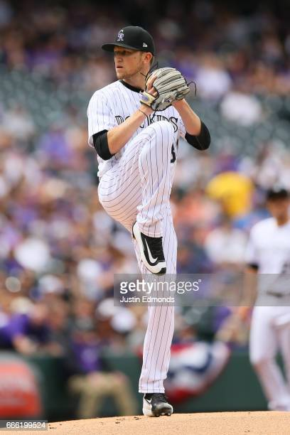 Kyle Freeland of the Colorado Rockies pitches against the Los Angeles Dodgers on Opening Day at Coors Field on April 7 2017 in Denver Colorado