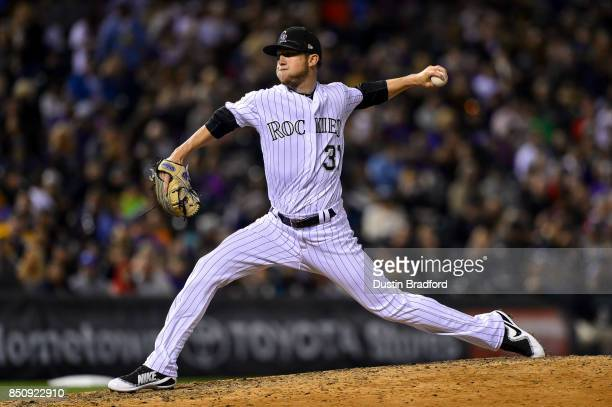 Kyle Freeland of the Colorado Rockies pitches against the San Diego Padres during a game at Coors Field on September 16 2017 in Denver Colorado