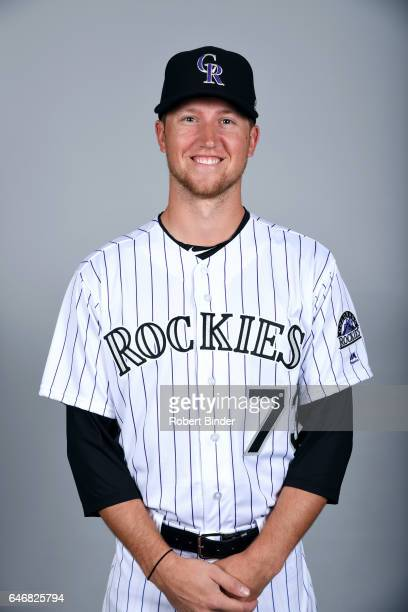 Kyle Freeland of the Colorado Rockies poses during Photo Day on Thursday February 23 2017 at Salt River Fields at Talking Stick in Scottsdale Arizona