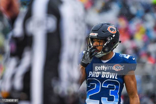 Kyle Fuller of the Chicago Bears in action during the 2019 NFL Pro Bowl at Camping World Stadium on January 27 2019 in Orlando Florida