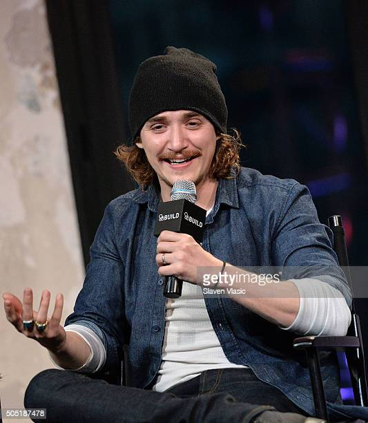 Kyle Gallner discusses his upcoming film Band of Robbers at AOL Build Speaker Series at AOL Studios In New York on January 15 2016 in New York City