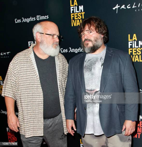 Kyle Gass and Jack Black attend the 2018 LA Film Festival screening of 'Tenacious D's PostApocalypto' at Writers Guild Theater on September 24 2018...