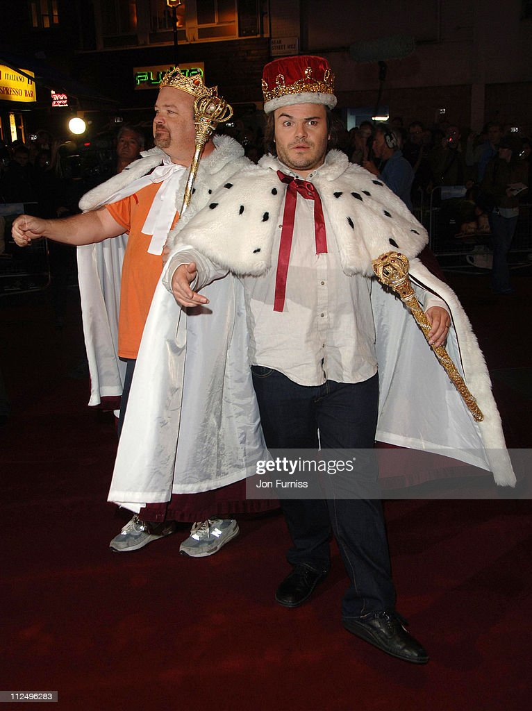 Kyle Gass and Jack Black during 'Tenacious D in the Pick of Destiny' World Premiere - Foyer at Vue West End in London, Great Britain.