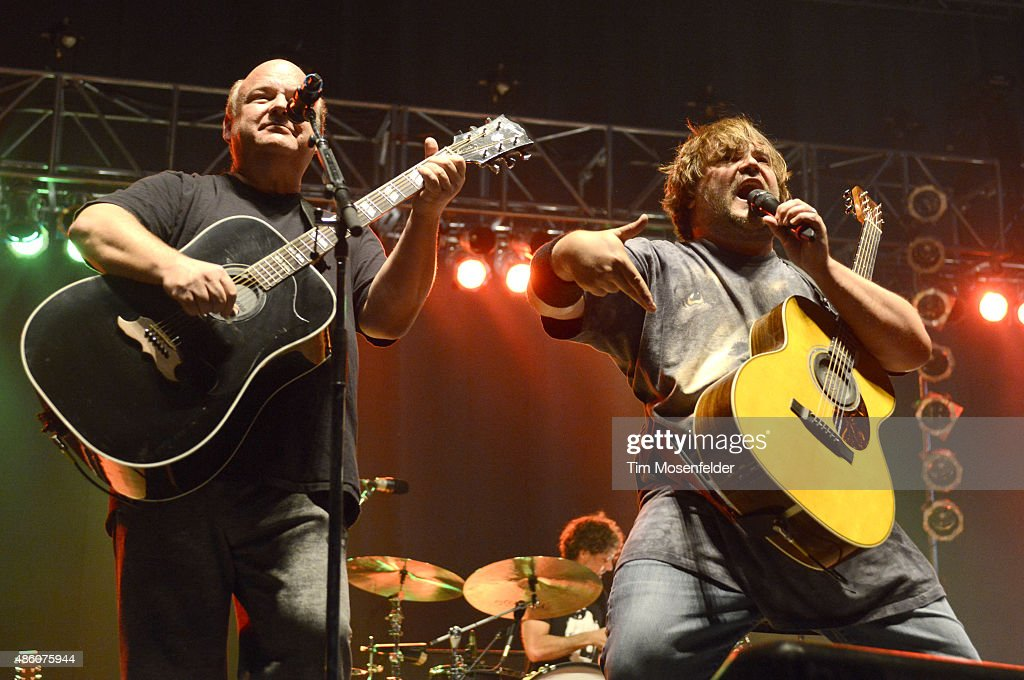 Kyle Gass (L) and Jack Black of Tenacious D perform during Riot Fest 2015 at the National Western Complex on August 30, 2015 in Denver, Colorado.