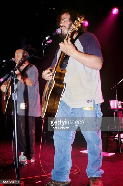 Kyle Gass and Jack Black of Tenacious D performing at Irving Plaza on October 20 2000