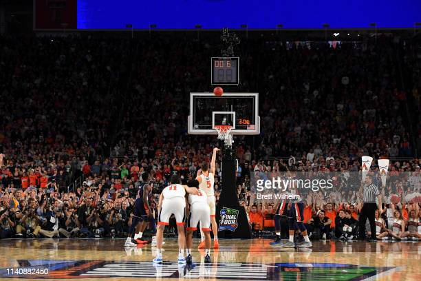 Kyle Guy of the Virginia Cavaliers shoots a free throw late in the second half of the semifinal game in the NCAA Photos via Getty Images Men's Final...
