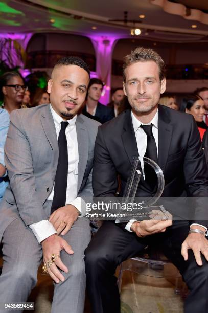 Kyle Hagler and honoree Alexi Lubomirski recipient of the Photographer of the Year award attend The Daily Front Row's 4th Annual Fashion Los Angeles...