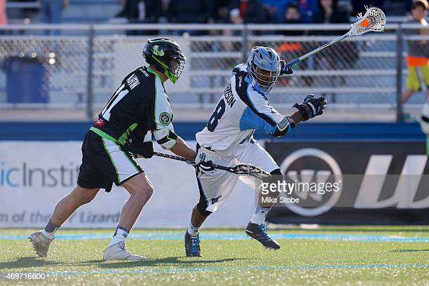 Kyle Harrison of the Ohio Machine in action against the New York Lizards at James M Shuart Stadium on April 12 2015 in Hempstead New York Lizards...