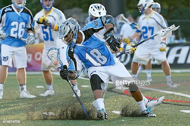 Kyle Harrison of the Ohio Machine stops and changes direction while being defended by Pat Frazier of the Florida Launch during the third quarter on...