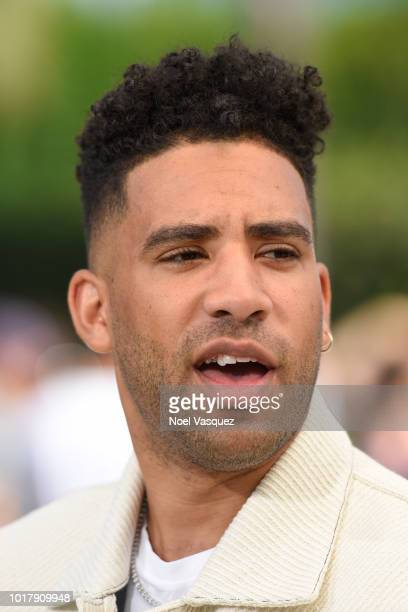 Kyle Harvey visits 'Extra' at Universal Studios Hollywood on August 16 2018 in Universal City California