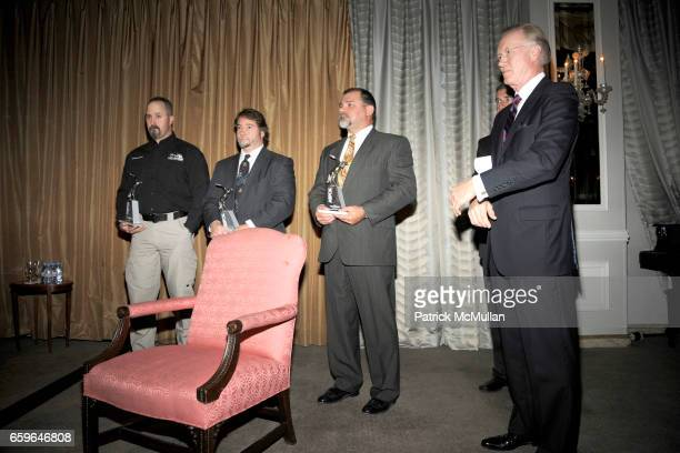 Kyle Held Jeffrey Heath Terry Mills and Chuck Scarborough attend The 2009 ASPCA Humane Awards Luncheon at The Pierre on October 29 2009 in New York...